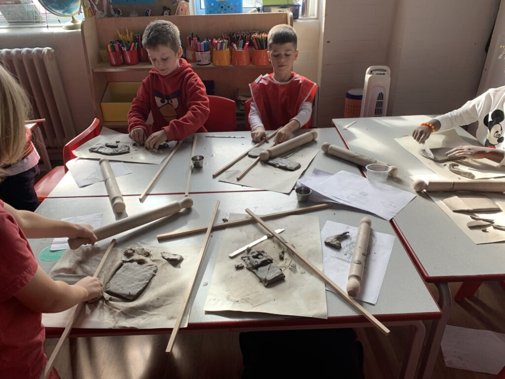 3L – We made a Clay Tile of a Victorian House